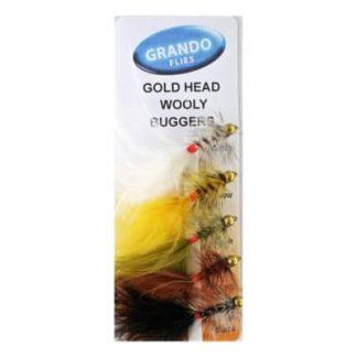 Мухи комплект Goldhead Woolly Buggers се състои от 5 броя различни Goldhead Woolly Buggers мухи.