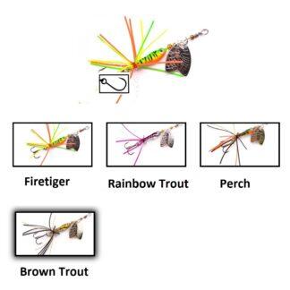 Блесна ларва Larva Mayfly Micro Spinner