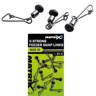 Вирбел с карабинка Matrix X-Strong Feeder Bead Snap Link