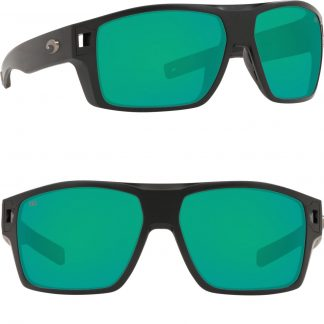 Очила Costa Diego, Matte Black, Green Mirror 580G